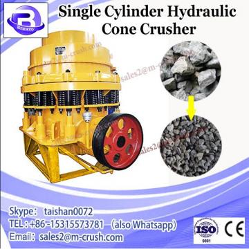 Single cylinder hydraulic cone crusher, stone crusher machine with tire type , casting structure