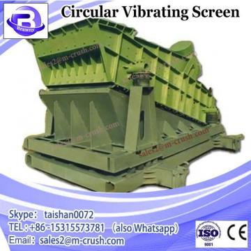 Intermediate mesh size circular vibrating screen for liquid filtering