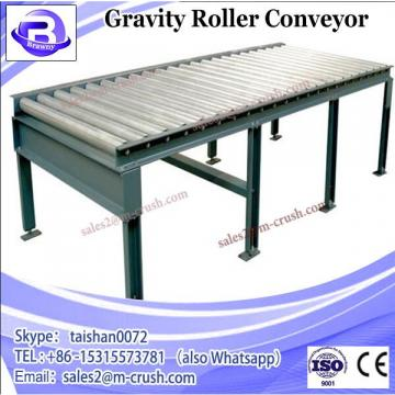 Stainless steel gravity roller conveyor for warehouse system and packing line