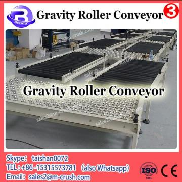 Unloading gravity curved roller conveyor